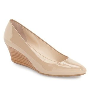 EUC Cole Haan Tali Luxe Wedge Pump Nude 8.5
